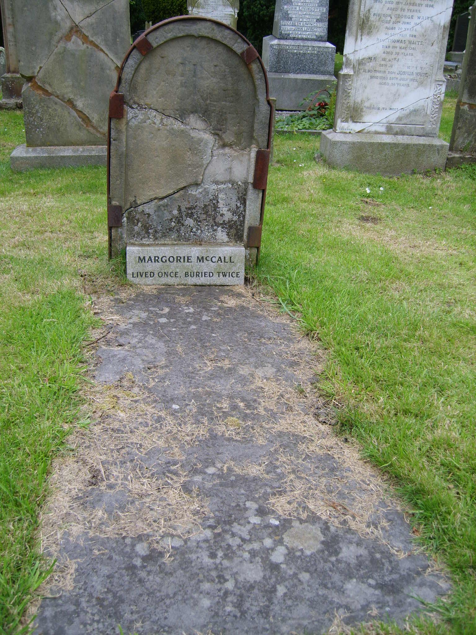 Margorie McCall, la donna che venne sepolta due volte